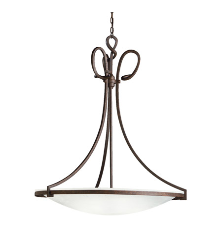 Kichler Lighting Signature 1 Light Fluorescent Pendant in Tannery Bronze 10720TZ photo