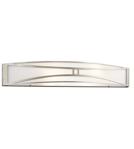 linear bathroom lighting kichler 2 light linear bath light in brushed nickel 13501