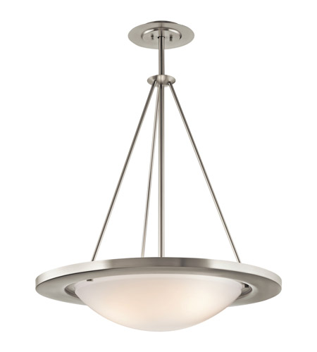 Kichler Lighting Signature 3 Light Fluorescent Pendant in Brushed Nickel 10725NI photo