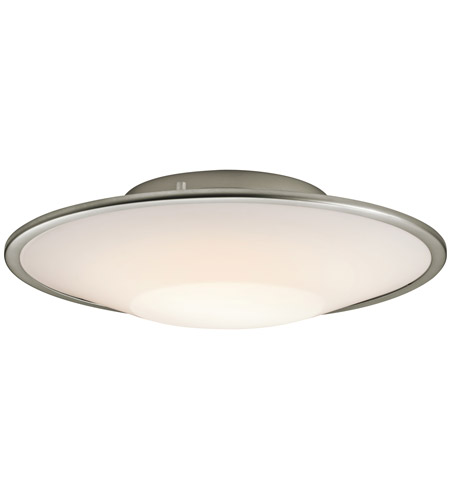 Kichler Lighting Signature 2 Light Fluorescent Flush Mount in Silver Various 10729SI photo