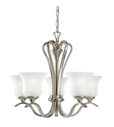 Kichler 10740NI Wedgeport 5 Light 22 inch Brushed Nickel Fluorescent Chandelier Ceiling Light photo