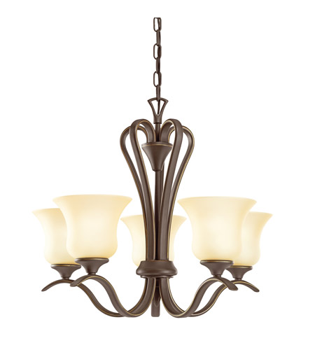 Kichler 10740OZ Wedgeport 5 Light 22 inch Olde Bronze Fluorescent Chandelier Ceiling Light photo