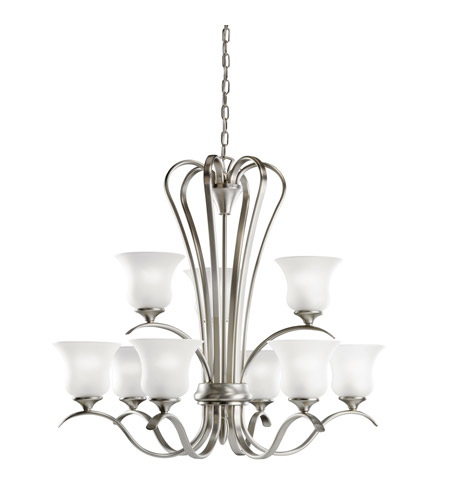 Kichler Lighting Wedgeport 9 Light Fluorescent Chandelier in Brushed Nickel 10741NI photo