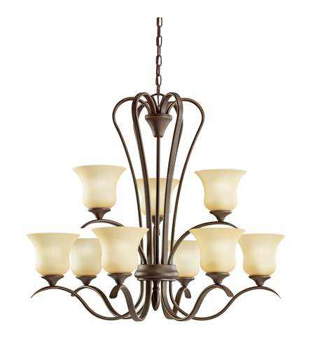 Kichler Lighting Wedgeport 9 Light Fluorescent Chandelier in Olde Bronze 10741OZ photo