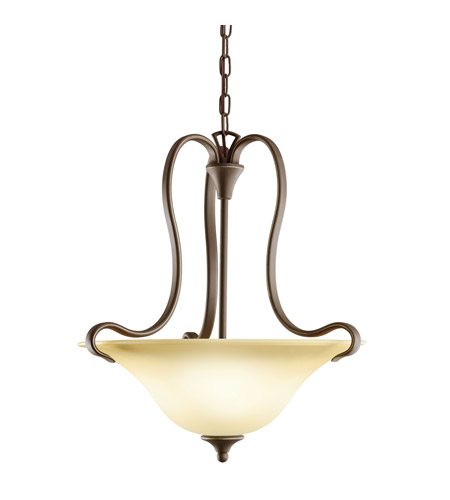 Kichler 10742OZ Wedgeport 2 Light 19 inch Olde Bronze Fluorescent Pendant Ceiling Light photo