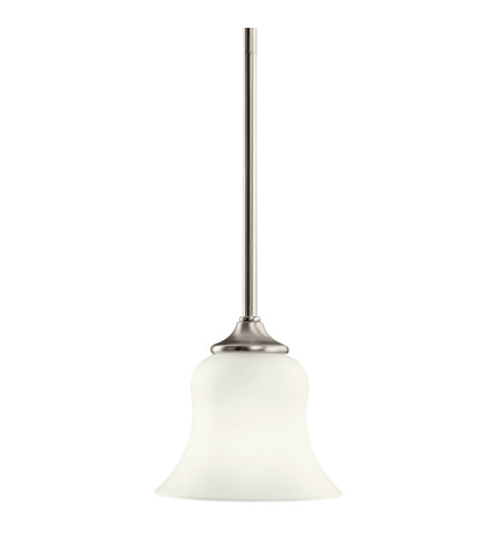 Kichler Lighting Wedgeport 1 Light Fluorescent Pendant in Brushed Nickel 10743NI
