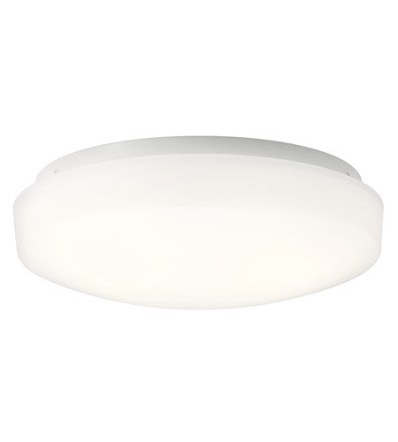 Kichler 10766WHLED Ceiling Space LED 11 inch White Flush Mount Ceiling Light photo