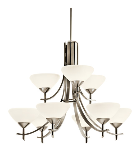 Kichler Lighting Olympia 9 Light Fluorescent Chandelier in Antique Pewter 10777AP photo