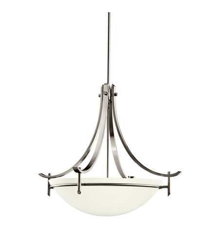 Kichler Lighting Olympia 1 Light Fluorescent Pendant in Antique Pewter 10778AP photo