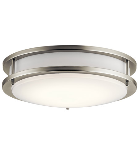 Kichler 10784NILED Independence LED 12 inch Brushed Nickel Flush Mount Light Ceiling Light photo
