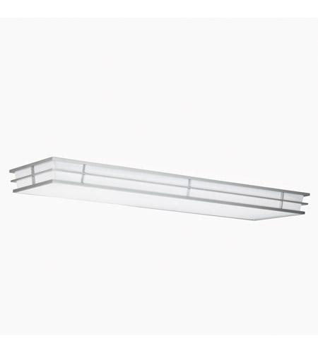 Kichler 10802si Pavilion 4 Light 16 Inch Silver Various Fluorescent Flush Mount Ceiling