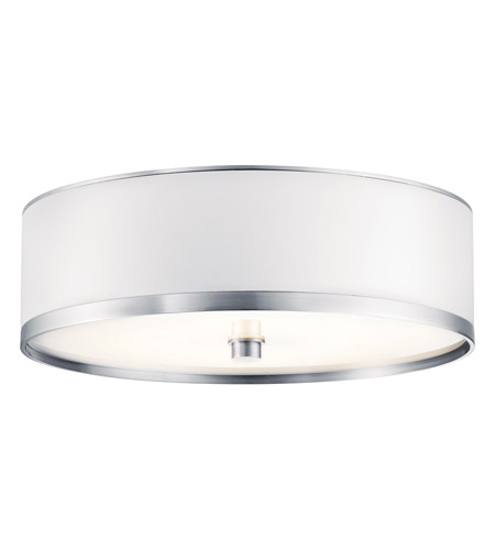 Kichler Lighting Pira 1 Light Fluorescent Flush Mount in Brushed Aluminum 10803BA