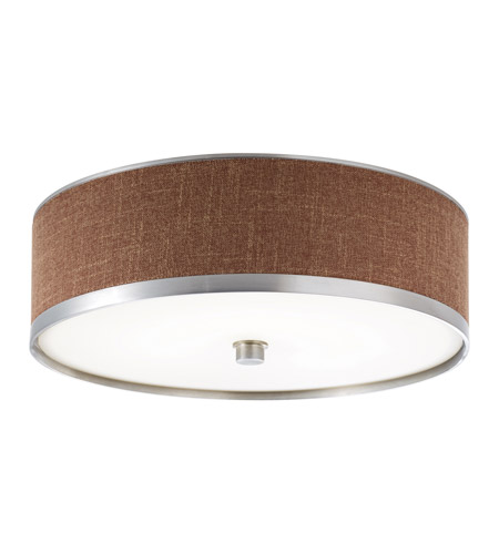 Kichler Lighting Pira 1 Light Fluorescent Flush Mount in Brushed Aluminum 10803BAW photo