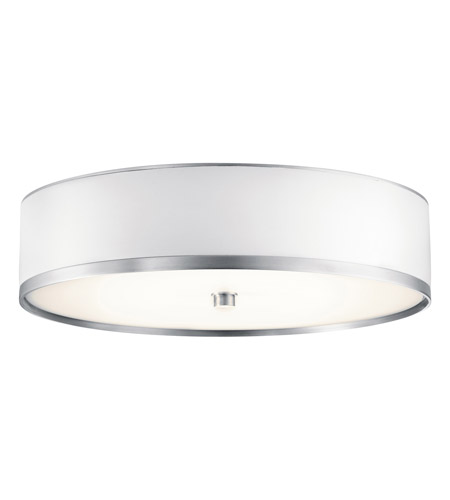 Kichler Lighting Pira 1 Light Fluorescent Flush Mount in Brushed Aluminum 10804BA