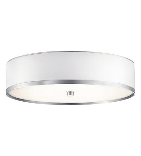 kichler 10804ba pira 1 light 15 inch brushed aluminum fluorescent flush mount ceiling light