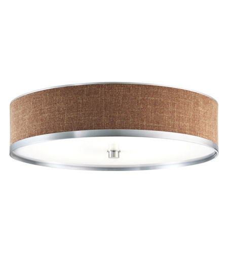 Kichler Lighting Pira 1 Light Fluorescent Flush Mount in Brushed Aluminum 10804BAW