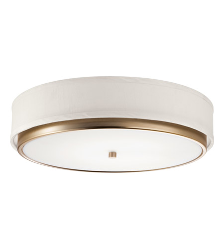 Kichler Lighting Marbrisa 1 Light Fluorescent Flush Mount in Champagne 10807CP