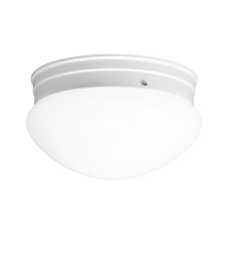 Kichler Lighting Signature 1 Light Fluorescent Flush Mount in White 10808WH photo