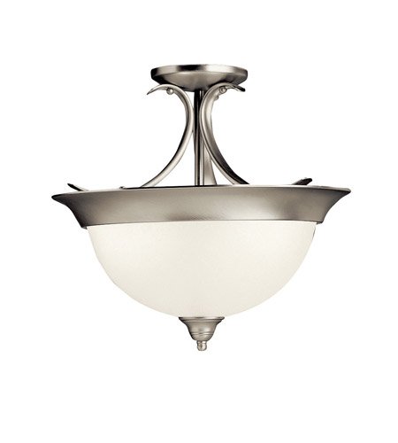 Kichler Lighting Signature 1 Light Fluorescent Semi Flush in Brushed Nickel 10823NI photo
