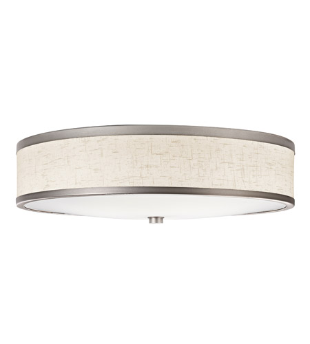 Kichler 10824CP Signature 3 Light 22 inch Champagne Flush Mount Ceiling Light photo