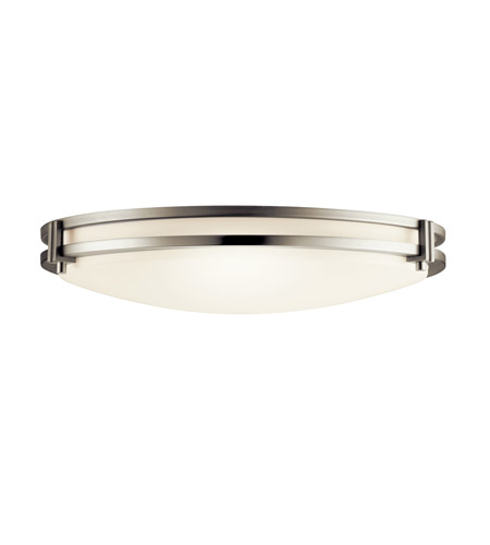 Kichler Lighting Signature 2 Light Fluorescent Flush Mount in Brushed Nickel 10827NI photo