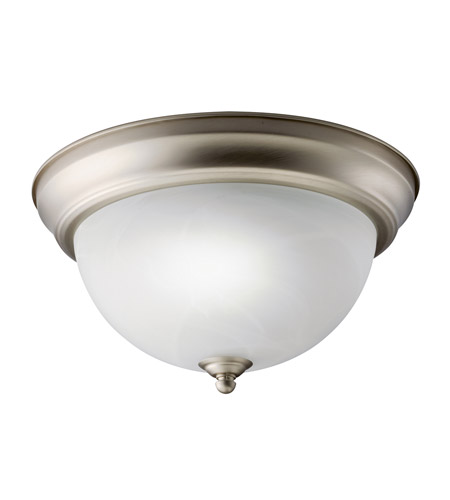 Kichler 10835NI Signature 1 Light 11 inch Brushed Nickel Flush Mount Ceiling Light photo