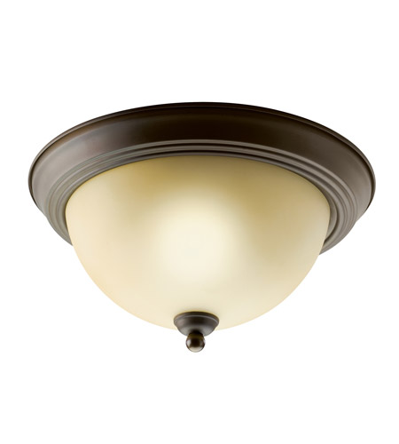 Kichler Lighting Signature 1 Light Fluorescent Flush Mount in Olde Bronze 10835OZ photo