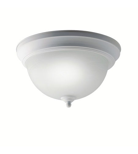 Kichler Lighting Signature 1 Light Fluorescent Flush Mount in White 10835WH photo