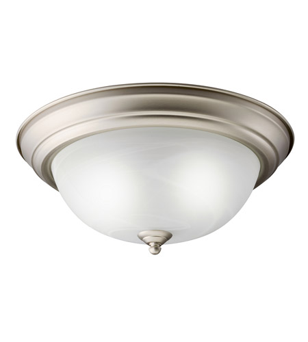 Kichler Lighting Signature 2 Light Fluorescent Flush Mount in Brushed Nickel 10836NI photo