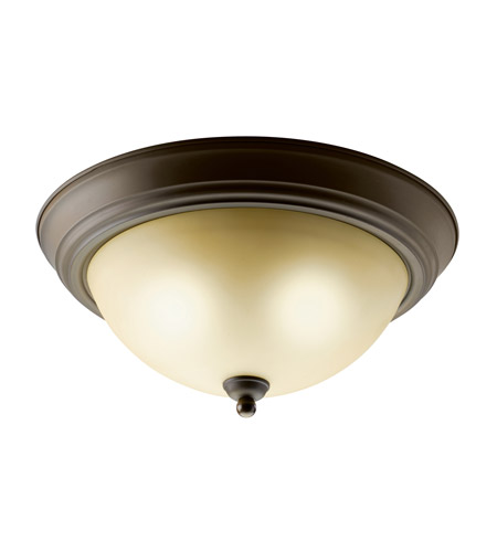 Kichler Lighting Signature 2 Light Fluorescent Flush Mount in Olde Bronze 10836OZ