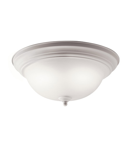 Kichler 10836WH Signature 2 Light 13 inch White Flush Mount Ceiling Light photo