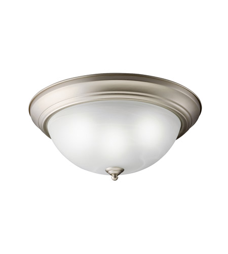 Kichler Lighting Signature 2 Light Fluorescent Flush Mount in Brushed Nickel 10837NI