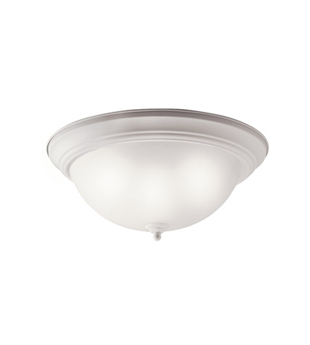 Kichler Lighting Signature 2 Light Fluorescent Flush Mount in White 10837WH photo