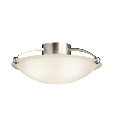 Kichler Lighting Signature 1 Light Fluorescent Semi Flush in Brushed Nickel 10859NI
