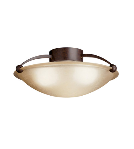 Kichler Lighting Signature 1 Light Fluorescent Semi Flush in Tannery Bronze 10859TZ