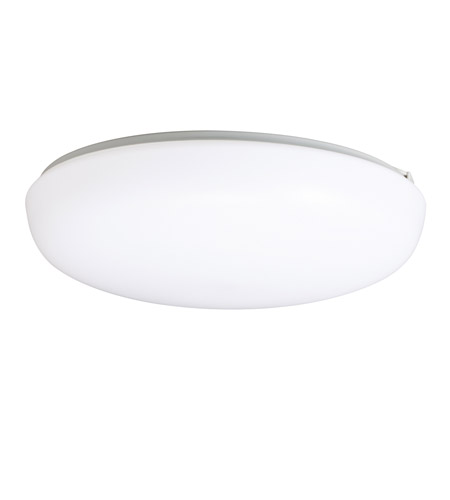 Kichler Lighting Signature 1 Light Fluorescent Flush Mount in White 10861WH photo