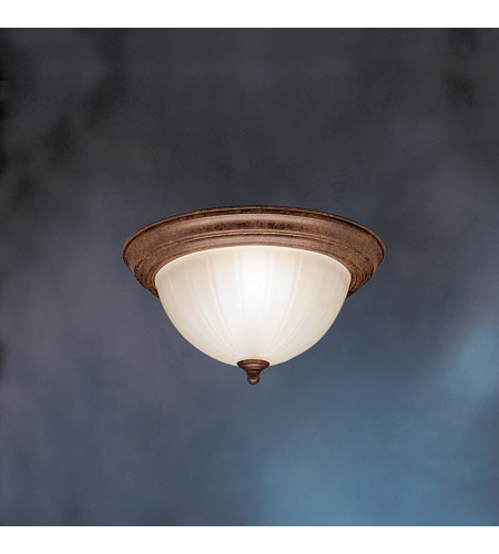 Kichler Lighting Signature 2 Light Fluorescent Flush Mount in Tannery Bronze 10864TZ photo