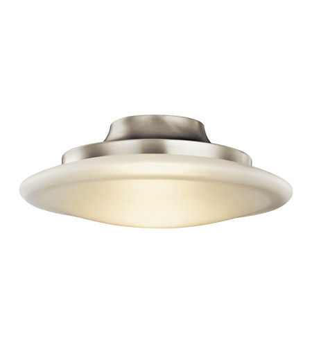 Kichler Lighting Structures 1 Light Fluorescent Flush Mount in Brushed Nickel 10867NI
