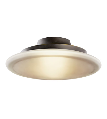 Kichler Lighting Structures 1 Light Fluorescent Flush Mount in Olde Bronze 10867OZ