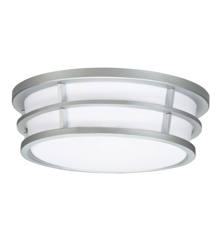Kichler Lighting Signature 2 Light Fluorescent Flush Mount in Silver Various 10869SI photo