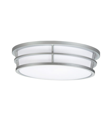 Kichler Lighting Signature 3 Light Fluorescent Flush Mount in Silver Various 10870SI photo