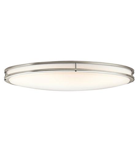 Kichler 10879ni Verve 2 Light 18 Inch Brushed Nickel Fluorescent Flush Mount Ceiling