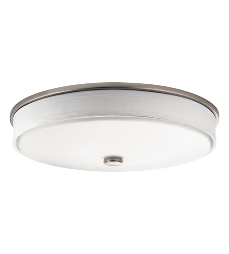 Kichler 10885NI Santiago 2 Light 13 inch Brushed Nickel Fluorescent Flush Mount Ceiling Light photo
