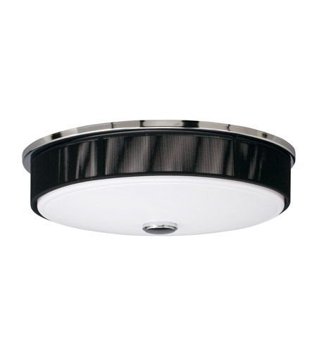 Kichler Lighting Santiago 3 Light Fluorescent Flush Mount in Chrome 10886CH photo