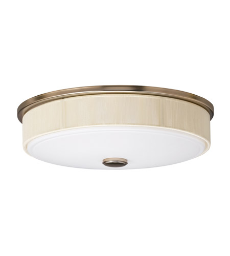 Kichler Lighting Santiago 3 Light Fluorescent Flush Mount in Champagne 10886CP photo
