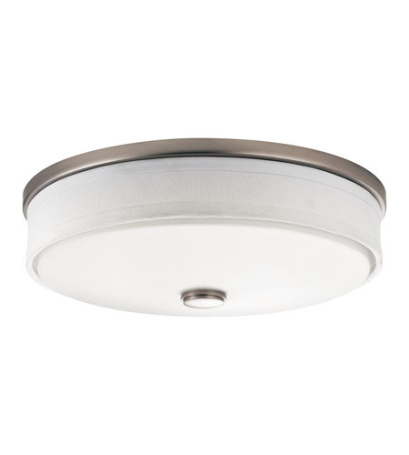 Kichler 10886NI Santiago 3 Light 17 inch Brushed Nickel Fluorescent Flush Mount Ceiling Light photo