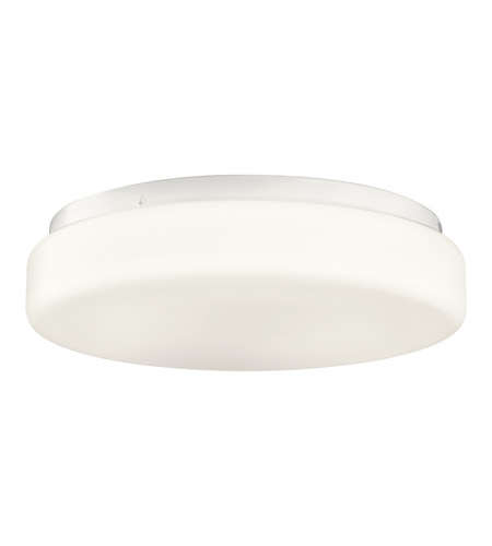 Kichler Lighting Signature 1 Light Fluorescent Flush Mount in White 10889WH photo