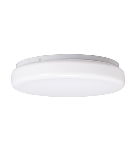Kichler Lighting Signature 1 Light Fluorescent Flush Mount in White 10890WH photo
