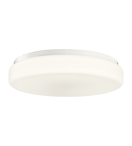 Kichler Lighting Signature 1 Light Fluorescent Flush Mount in White 10891WH