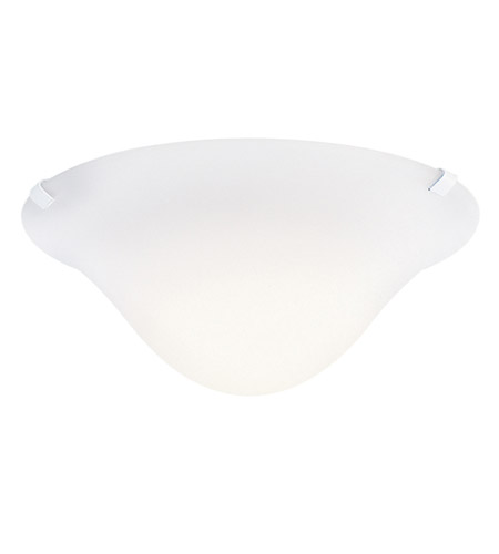Kichler Lighting Signature 1 Light Fluorescent Semi Flush in White 10893WH